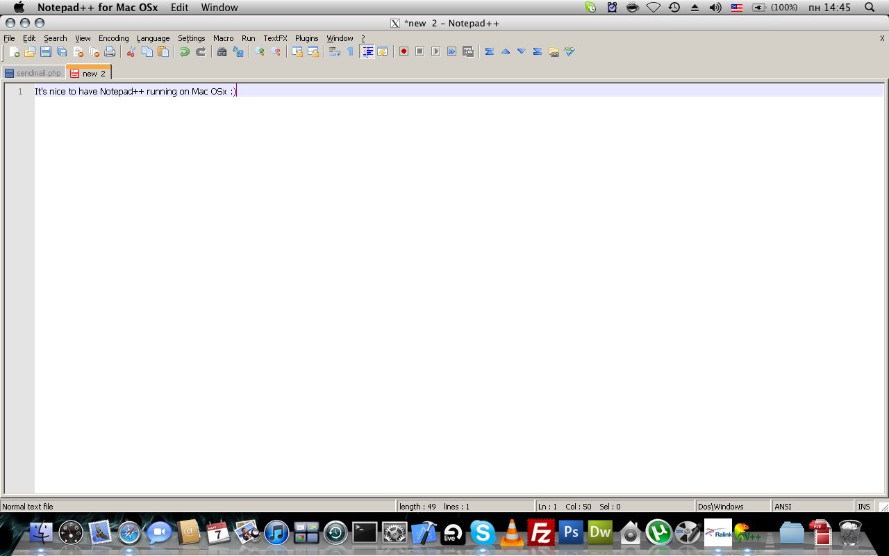 notepad++ for mac os x